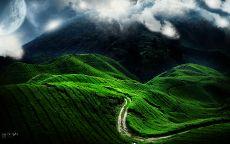 Дорога в горной долине
