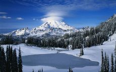 Облако над снежной горой