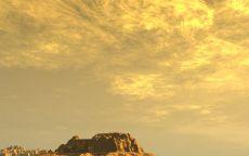 Одинокие скалы в пустыне