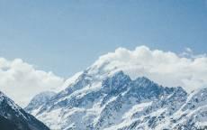 Холод, горы, высота, снег, облака