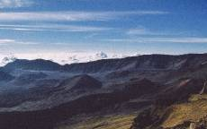 Горный пейзаж, горы, небо, облака