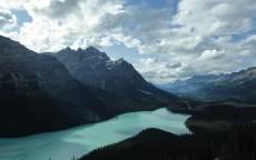 Горы, озеро, облака, небо, пейзаж