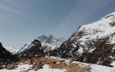 Снег, горы, небо, облака