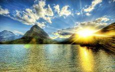Солнце в горах.