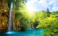 Рассвет и водопады