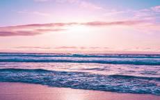 море, океан, прибой, волны, пляж, пейзаж