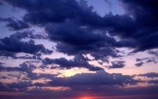 Облака, закат, море