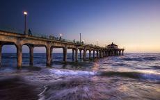 Мост в океан Лос-Анджелес.