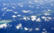 Острова, океан, тучи, облака, синяя вода