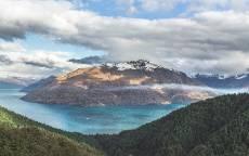 Дикая природа, холмы, остров, горы, облака