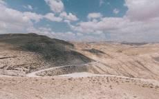 Дорога в горах, пустыня, природа, облака
