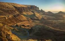Пейзаж, природа, горная долина, река, обрыв, каньон