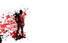 Картинка, рисунок, комикс, Дэдпул брызги крови