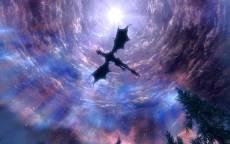 Сериал Игра Престолов, ночь, луна, летящий дракон