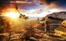 Иллюстрация, роман Игра престолов, принцесса, дракон