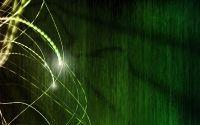 Движение света на зеленом фоне