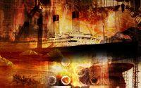Абстрактная картина Титаник