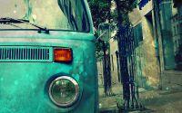 Старый микроавтобус фольксваген