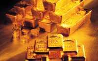 Слитки золота и монеты