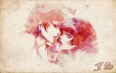 Картина аниме поцелуй
