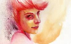 Картина Огненно рыжая девушка