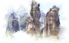 Пейзаж три скалы