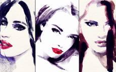 Портрет трех девушек