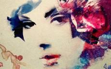 Картина Девушка с цветком в волосах