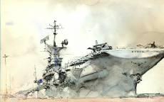 Авианосец в порту