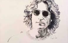 Портрет Джона Леннона в очках