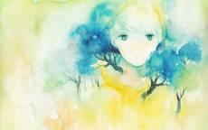 Рисунок лицо в деревьях