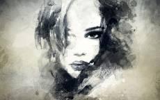 Картина лицо девушки