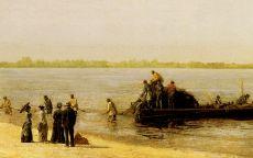 Рыбалка в Глостере на реке Делавэр,Томас Икинс