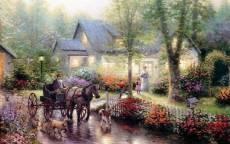 В деревне после дождя