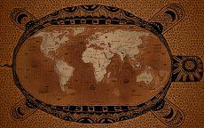 Старинная карта на панцире черепахи