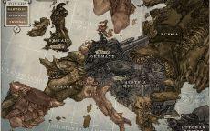 Карта Великой войны 1914