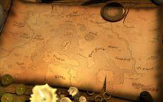 Старинная карта и свечи