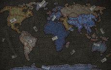 Джинсовая карта мира