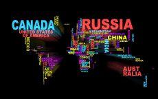 Карта мира из названий стран