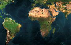 Карта рельефов материков