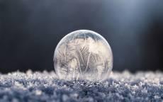 Лед, мороз, узор, шар, иней