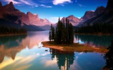 Ели на острове, Канада