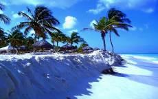 Белый пляж, Тропики, Пальмы, Летний отдых, светлый песок