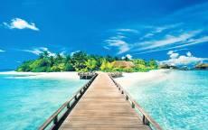 Тропическая дорога , Остров, тропики, лето, райское место, Отдых, Океан