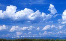 Большие облака над лесом