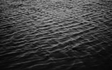 Черно белое, волны, рябь, море