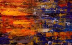 фон, краски, синий, желтый, цвет, абстракция