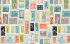 Фон марки почтовые