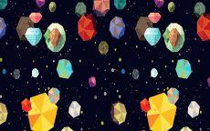 Фон разноцветные камни в космосе