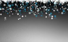 Снег на сером фоне